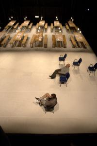 SKILJE: Det tydelege skiljet mellom scene og sal kan gå i oppløysing. FOTO: YANIV COHEN